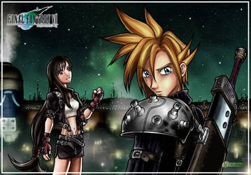 FF VII - Tifa and Cloud by alexsanlyra