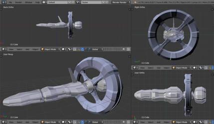 Random Starship - my first 3D model by alexsanlyra