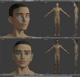 Male Figure - my first character model by alexsanlyra