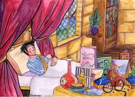+ Harry in the hospital wing + by Lumosita