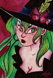 Witches portraits #1 - Ivy by Lumosita