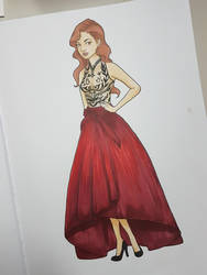 Red dress by DaliteDraws