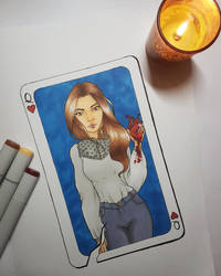 Queen of hearts by DaliteDraws