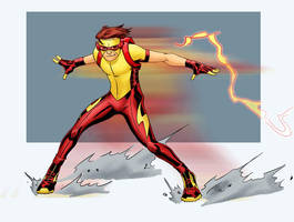 K is for Kid Flash by Mista-M