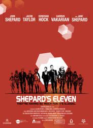 ME2 Shepard's Eleven Poster by pen-gwyn