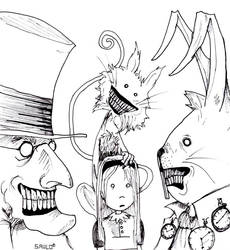 Alice in wonderland... by Saulo