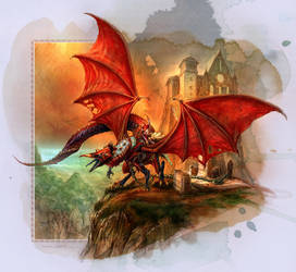 Cardinal Dragon by chuckwadey