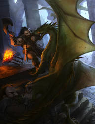 Dragon Attack by angel5art