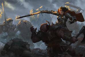 Warrior Women by angel5art