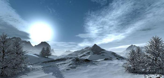 Snowy Trees by Temaiir