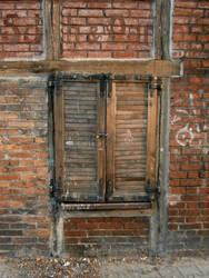 Old window shutter by Finsternis-stock
