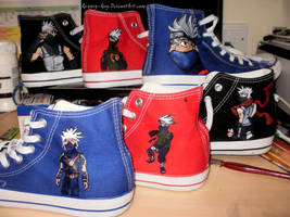 The Kakashi Shoe Collection by Groovy-Guy