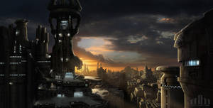 Argantus City Mattepainting by Jacklionheart