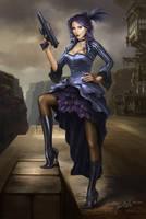 Steampunk Pirate Lady by Jacklionheart