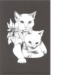 black and white christmas cats by DoozersWorkshop