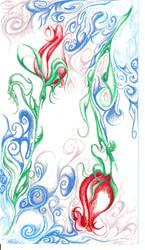 roses swirl by DoozersWorkshop