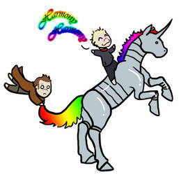 Robot Whonicorn Attack by blademalfoy