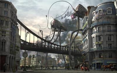 War of The Worlds - HG Wells - Men Hunting by  by TroC--czarnyrobert