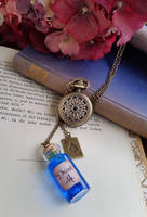 Alice in Wonderland Steampunk Necklace by MieMoe