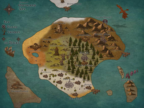 World map by Bardtender222