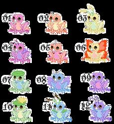 Owlfrog Rainbowbrood (open) by gloomy-cherub