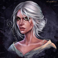 Scetch Ciri - the Witcher by EvaKosmos