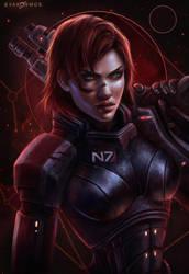 Commander Jane Shepard by EvaKosmos