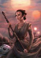 Rey Star Wars by EvaKosmos