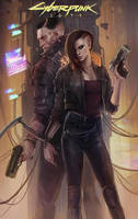 Cyberpunk 2077 (fan art) by EvaKosmos
