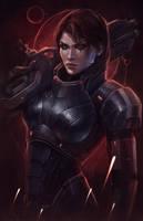 Commander Shepard Hero of the Galaxy. N7 Day by EvaKosmos