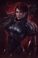 Commander Shepard Hero of the Galaxy. N7 Day by EvaKosmos