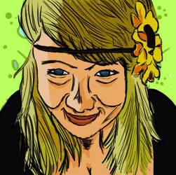 The flower girl. by JIMBONEY