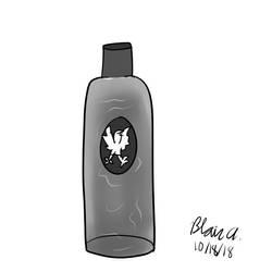 Inktober 2018 Day 18- Bottle by wrytergirl