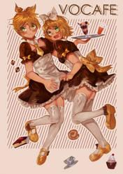 Vocafe Maids{SPEEDPAINT] by Kiekyun