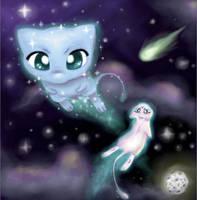 Mew Galaxy by ceriselioness