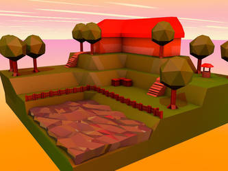 My first Lowpoly thingy by DaftwalkerArtTs