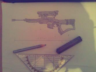 Sniper from Destiny by DaftwalkerArtTs