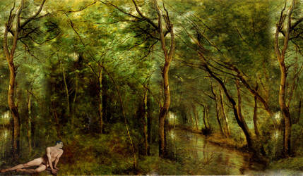 A Corot Forest With Creatures by LightSource