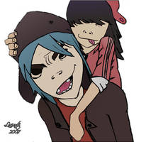 2D and Noodle 2 by luciarts