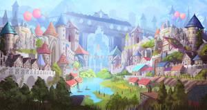 fantasy city by nigelhimself