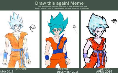 Draw This Again - Goku SSJB(2) by MaruanKaled