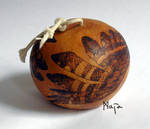 ornamented cabaca: Owl - viola by MaiaRatynska