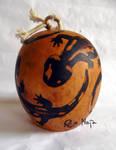ornamented cabaca: Salamander - medio by MaiaRatynska