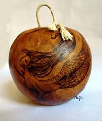 ornamented cabaca: Sereias - gunga by MaiaRatynska