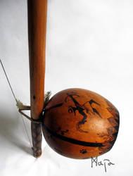 ornamented berimbau - Oxossi viola by MaiaRatynska