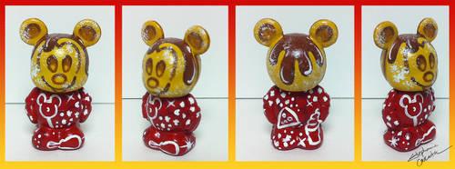 Vinylmation Jr. 1 1/2'' Mickey Waffle Custom by StephanieCassataArt