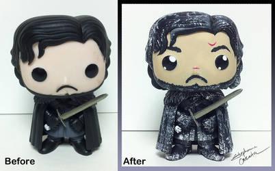 Jon Snow Funko Pop Custom by StephanieCassataArt