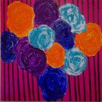 Striped Flowers by artistevelyne