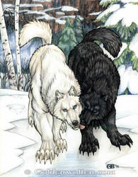 Winter Kiss by Goldenwolf