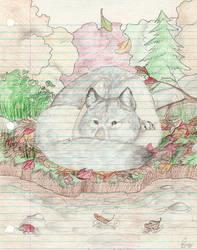 First Wolf by Goldenwolf